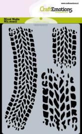 CraftEmotions Mask stencil Cars - bandensporen - A6 - Carla Creaties