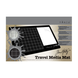 Tonic Studios Tools - Travel glazen media mat 40 x 26 cm - Tim Holtz