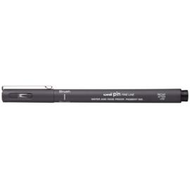 Uni-ball PIN Brush pen  - Donkergrijs
