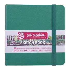 Talens art creation Brush / Schetsboek 12 x 12 cm - 80 vellen - Woudgroen