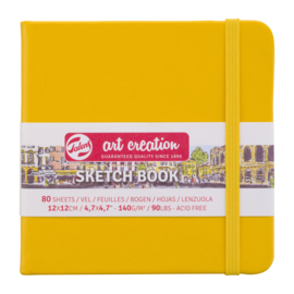 Talens art creation Brush / Schetsboek 12 x 12 cm  - 80 vellen - Golden Yellow