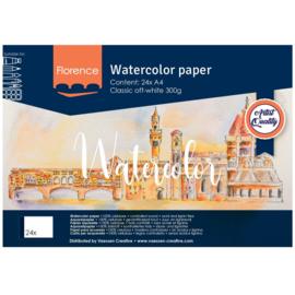 Florence Aquarelpapier Off-white 300 grams