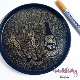 Kreul glas & porseleinstiften fine metallic goud (1-2mm)