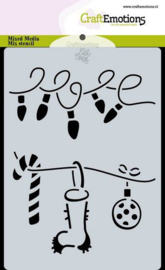 CraftEmotions Mask stencil Christmas - decorations - A6
