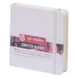 Talens art creation Brush / Schetsboek 12 x 12 cm  - 80 vellen - Wit