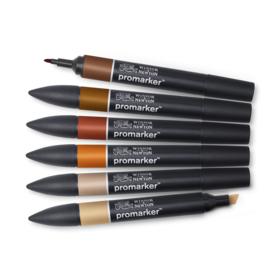 Winsor & Newton promarkers Skin tones set 2 - set van 6
