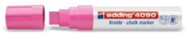 Edding 4090 Raam/krijtstift XXL - Beitelvormige punt 4-15 mm - Neonroze
