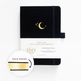 Archer & Olive bulletjournal/Notitieboek A5 - 160 pagina's - Dotted - Crescent Moon met gouden rand