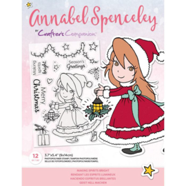 Crafter's Companion Annabel Spenceley Clearstamp - Making Spirits Bright