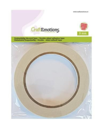 CraftEmotions Dubbelzijdig klevend tape 9 mm -  20 meter