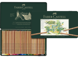 Pastelpotlood Faber Castell pastel metalen blik - set van 36