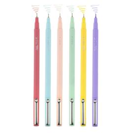 Marvy Uchida LePen PASTEL Colors Fineliners - set van 6