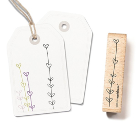 Cats on Appletrees - Houten stempel - 60x15mm - Plant 6