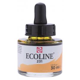 Talens Ecoline Vloeibare waterverf 30 ml - 231 goudoker