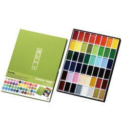 Kuretake Aquarelverf - Gansai Tambi Water Colours Brush Set  - set van 48