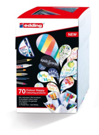 Edding Colour Happy Big box - set van 70 brush pennen incl. kleurenmixer