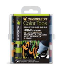 Chameleon Alcohol based Color Tops - Earth Tones - set van 5