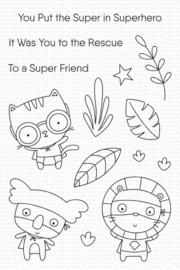 My Favorite Things clear stamps - set van 8 - Super Friend