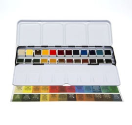 Daniel Smith Extra Fine Watercolor Aquarelset - set van 24 napjes + extra gratis metalen blik