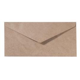 Florence - Enveloppen 22,5 x 11,5cm kraft - 120 grams - set van 5