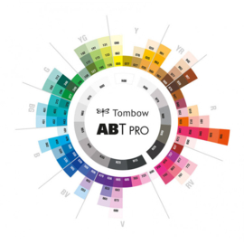 Tombow ABT PRO Alcohol based markers - Basic colours - set van 12