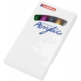 Edding 5100 Acrylmarker medium 2-3mm - Feestelijk - set van 5