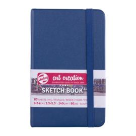 Talens art creation Brush / Schetsboek 9 x 14 cm - 80 vellen - Marine Blauw