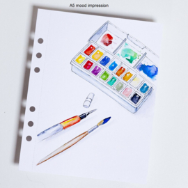 MyArtBook papier A4 - 10 vellen - 350 grams - Ultra wit Mixed Media / Aquarelpapier