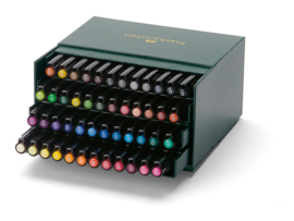 Faber Castell Pitt Artist Pen Brush Studiobox - set van 48