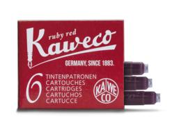 Kaweco inktpatronen - set van 6 - Ruby Red