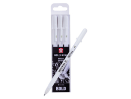 Sakura Gelly Roll wit- Bold - Set van 3 SA403
