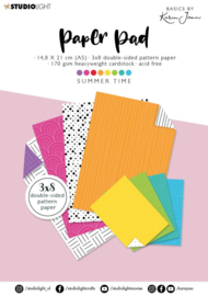 StudioLight Paper Pad Blok A5 - Basics By Karin Joan - Summer time nr.09
