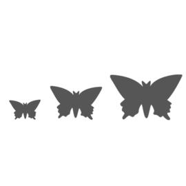 Vaessen Creative -  Figuurpons vlinders - set van 3