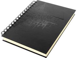 Kangaro Schetsboek A5 Wire-o cream hard cover zwart - 80 pagina's - 140 grams crème wit papier