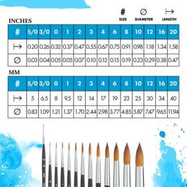 Princeton Aqua Elite Penseel Serie 4850 - Round size 6