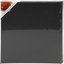 Artistline gespannen canvas 30 x 30 cm - Zwart