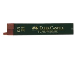 Faber Castell navulling potloodstiftjes Super-Polymer 0,5 mm - Hardheid 2H