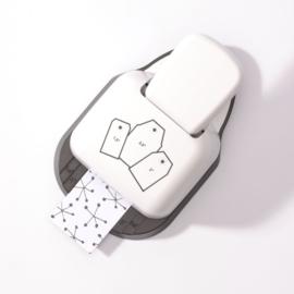 Paperfuel label pons 3 in 1 - 3,8 cm, 5,1 cm en 6,4 cm - rechte hoeken