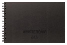 Amsterdam schetsboek met ringband A4 29,7 x 21 cm - 30 vellen wit - 250 grams - kaft zwart