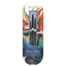 Silver Brush Black Velvet Aquarelpenselen - Susan Louis Moyer Set van 3