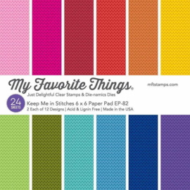 My Favorite Things – Paper Pad 15 x 15 cm - 24 vellen - Keep Me in Stitches