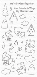 My Favorite Things clear stamps - set van 24 - Fox and Friends