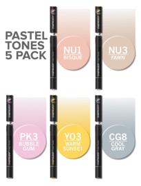 Chameleon Alcohol based Pens - Pastel Color Tones - set van 5