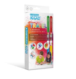 Chameleon Kidz Travel 4 Color Creativity Kit - set van 12