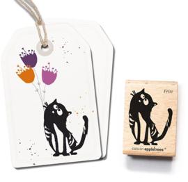 Cats on Appletrees - Houten stempel - 40x30mm - Fritz the Cat
