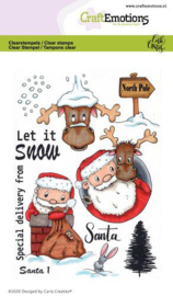 CraftEmotions clearstamps A6 - Santa 1 - Carla Creaties