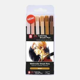 Sakura Koi coloring brush pen Portrait - set van 6