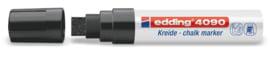 Edding 4090 Raam/krijtstift XXL - Beitelvormige punt 4-15 mm - Zwart