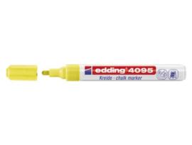 Edding 4095 Raam/krijtstift - rond 2-3 mm - Neongeel