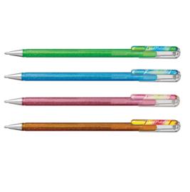 Pentel Hybrid Dual Metallic gelpen K110 1,0 mm set van 4 nieuwe kleuren